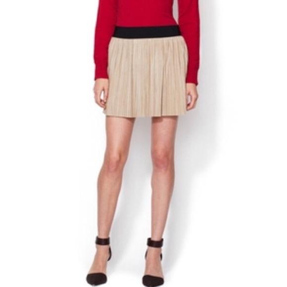 6ea42ccbf9 BCBGMaxAzria Skirts | Kaysa Faux Suede Khaki Mini Skirt S | Poshmark